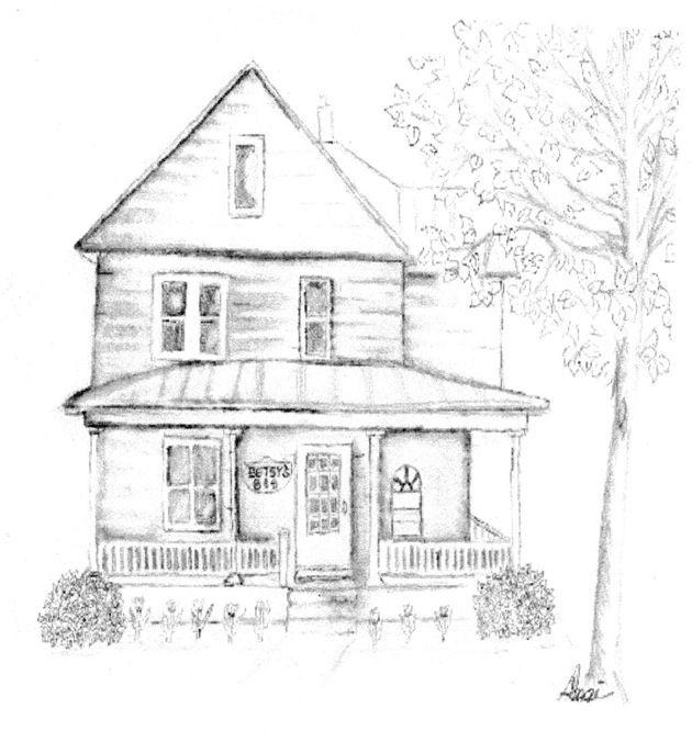 Drawn hosue farm house 507 23 3276 Drawings the