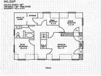 Drawn hosue graph paper Chang's Art Floor Plan Draw