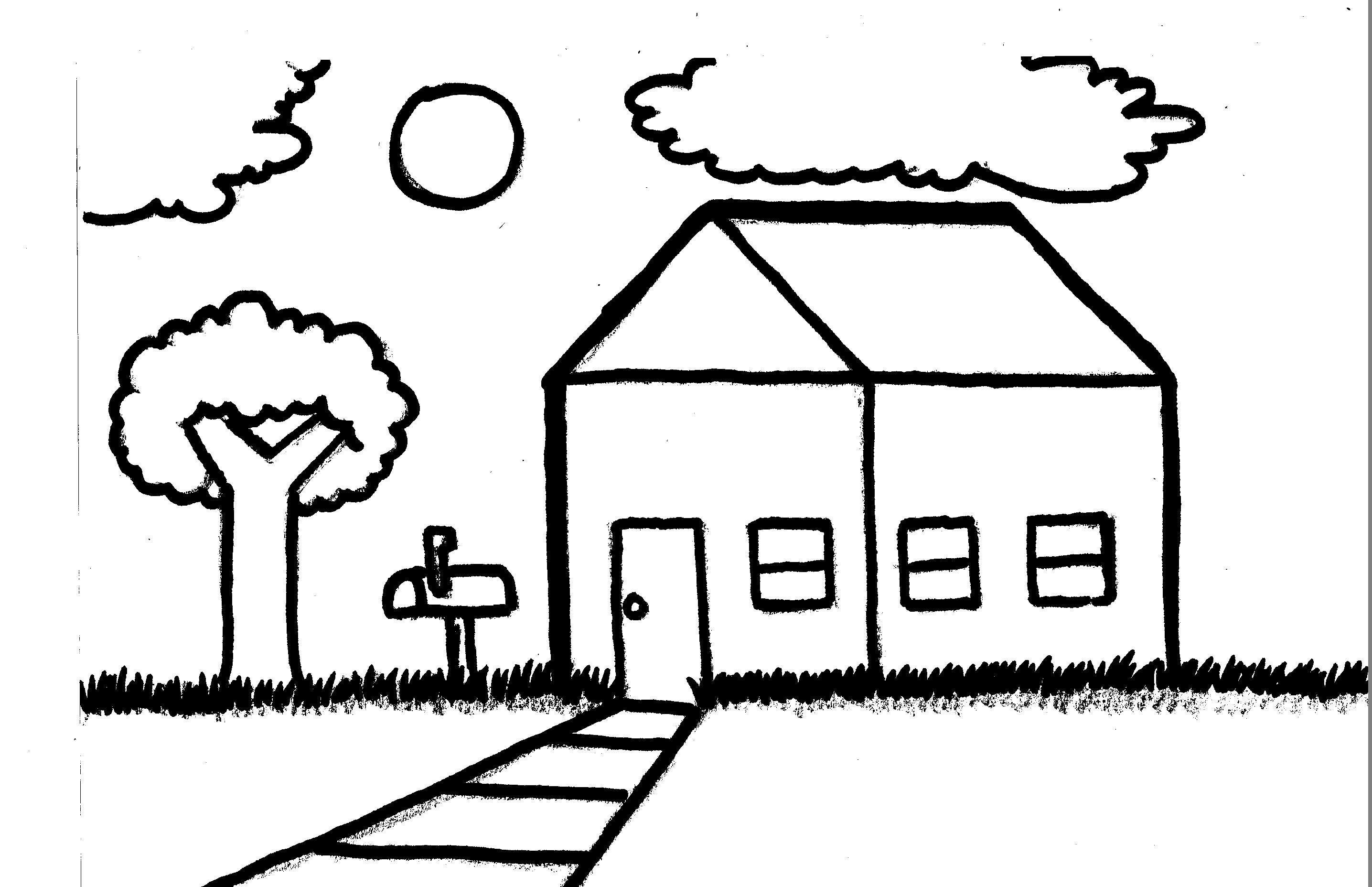Drawn hosue simple Landscape #CAALF (Speed Drawing) House