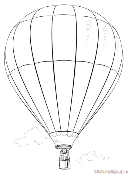 Drawn hot air balloon How Hot Balloon Air tutorials