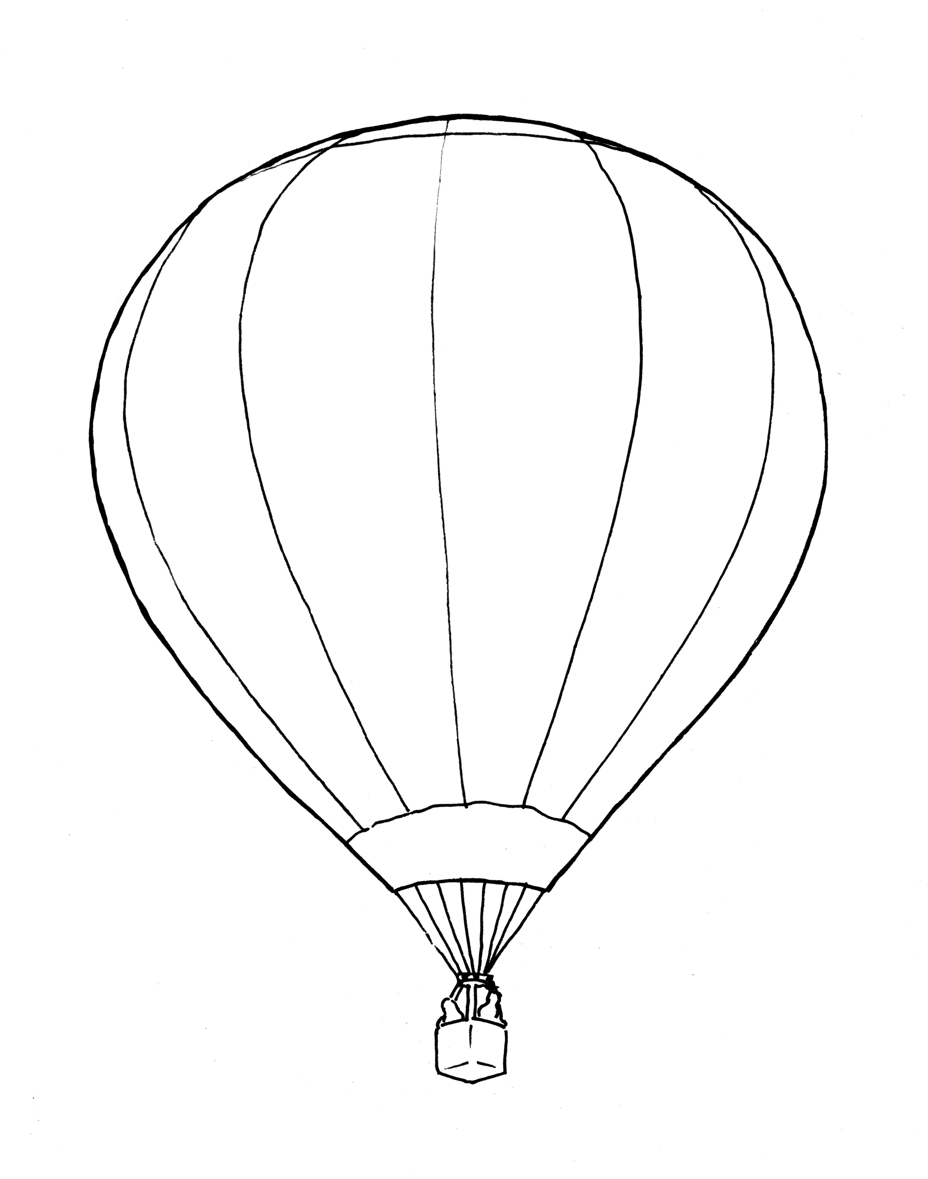 Drawn hot air balloon Hot Page Coloring With page