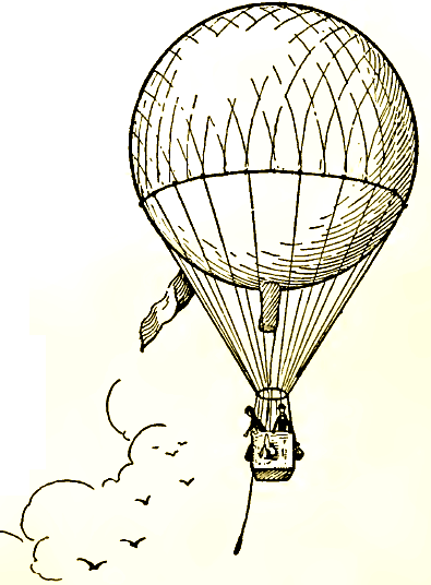 Drawn hot air balloon Step Hot  : Air