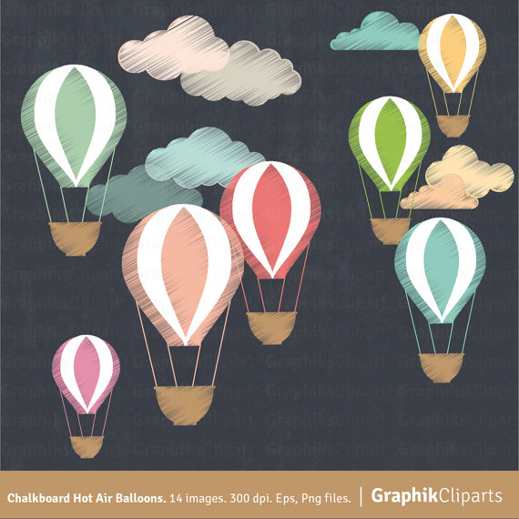 Balloon clipart chalkboard Balloons Clouds Download Png Clipart