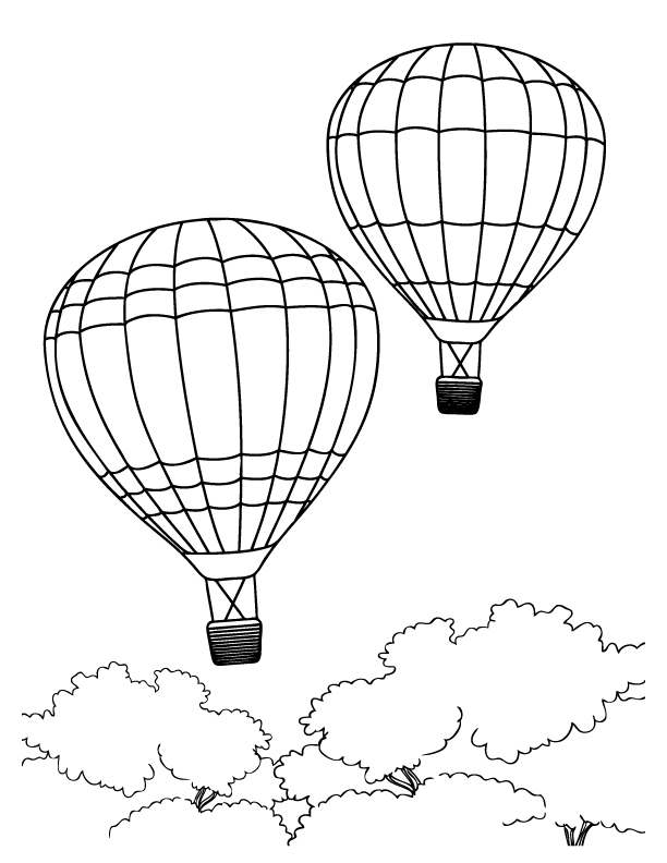 Drawn amd hot air balloon Hot Balloon Pages Printable Pages