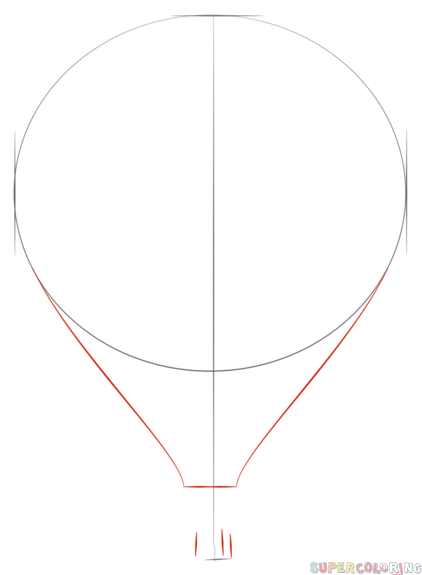 Drawn amd hot air balloon How draw Balloon to Drawing