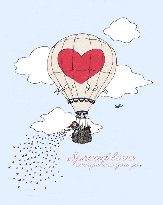 Drawn hot air balloon Spread LikeARadio 435 at Pinterest