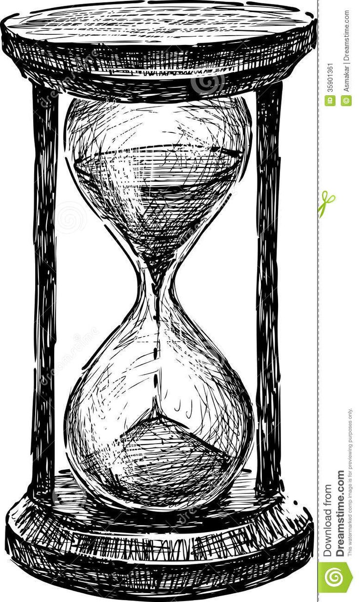 Drawn hourglass Drawing 25+ Image Stock on