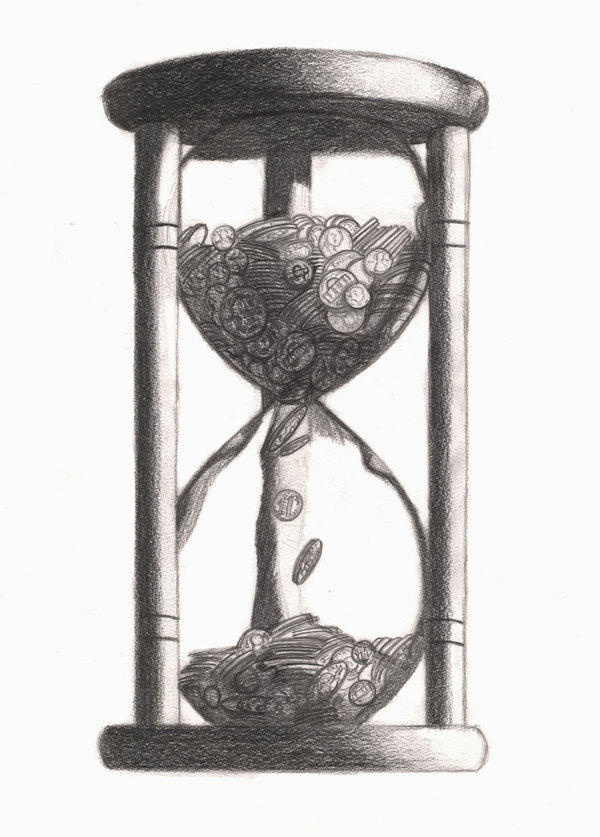 Drawn hourglass On DaFlln by by DeviantArt