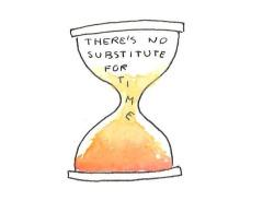 Drawn hourglass Time  time life like