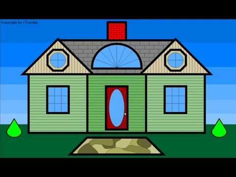 Drawn house 2d cartoon A Dream House assemble Build