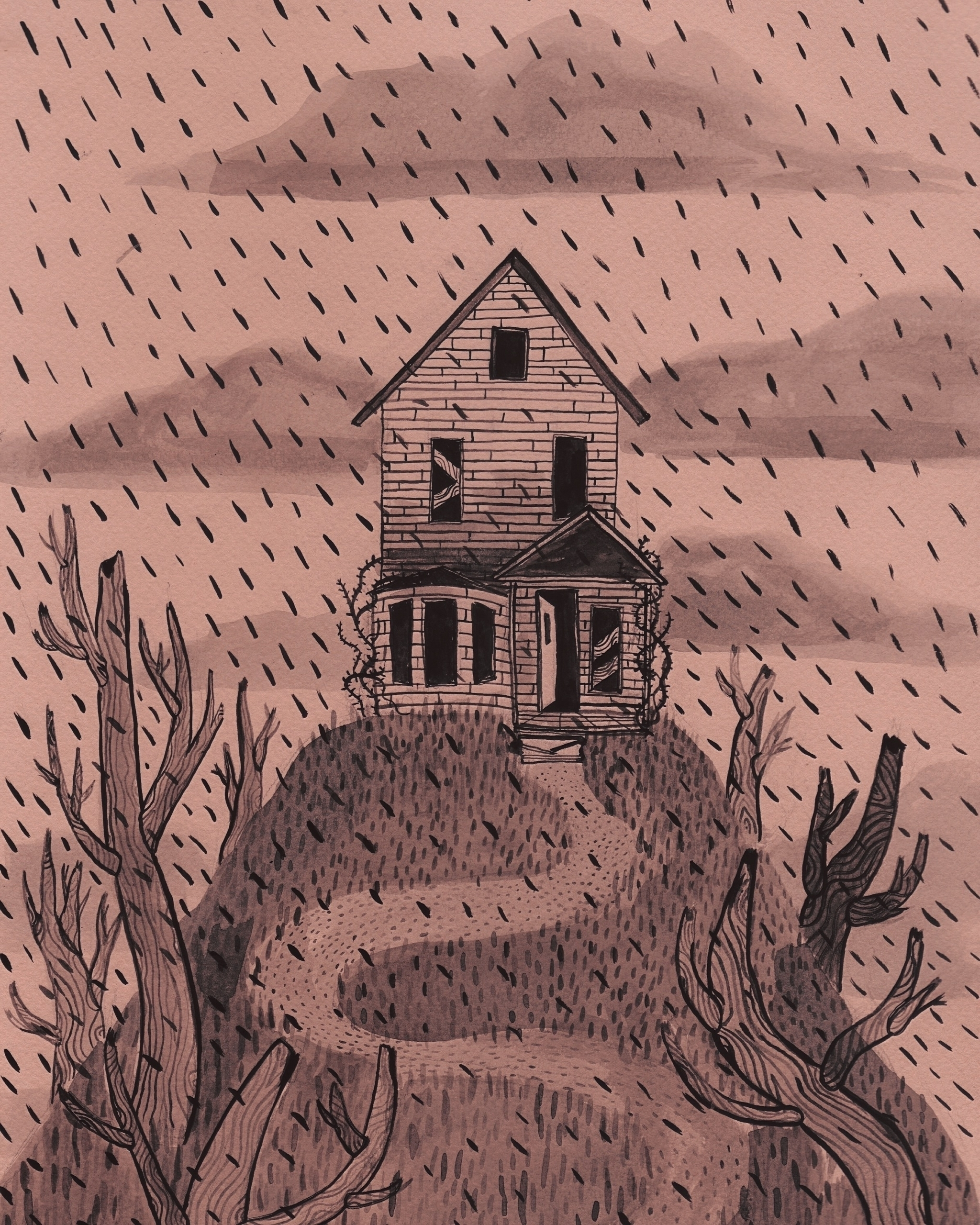 Drawn house abandoned house Illustration – Ontario Ello Exploration
