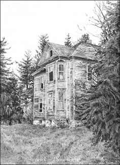 Drawn house abandoned house For house Too Grown Blog