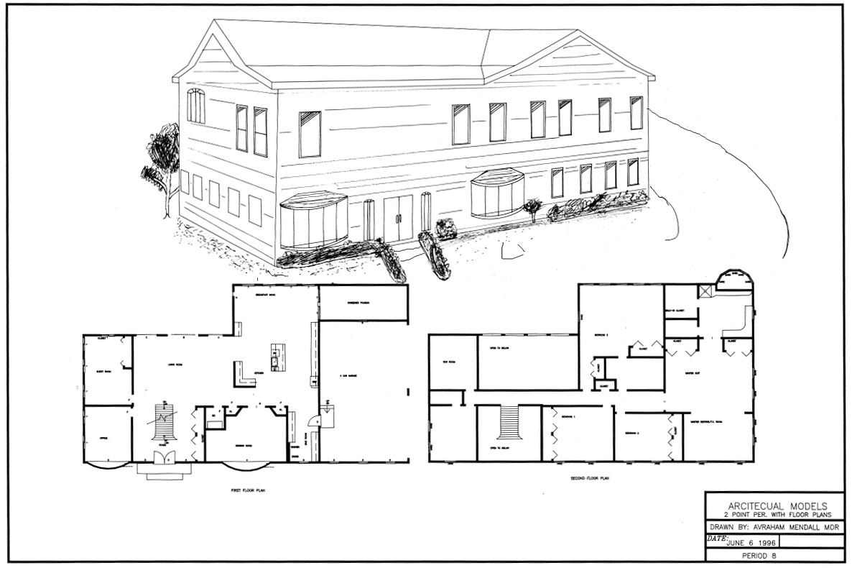 Drawn hosue beginner Villa Autocad House Ideas 3D