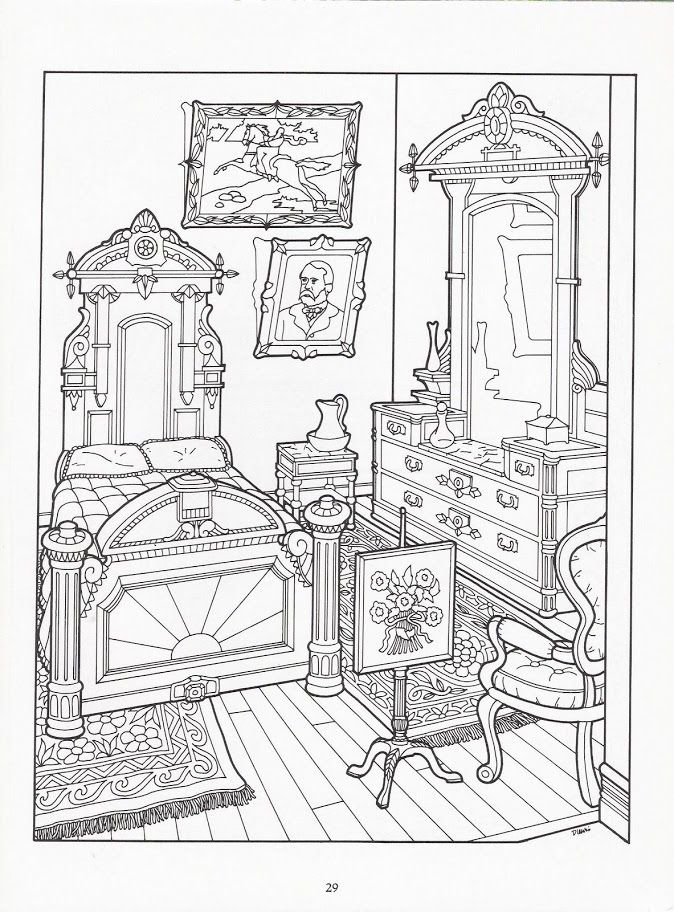 Drawn hosue colouring book Houses images Images 321 2