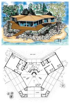 Drawn house contemporary house House Plan Home Plans Small