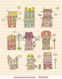 Drawn hosue cute Draw house  Pinterest house