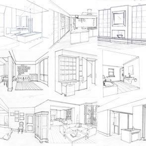 Drawn hosue dream house Interior Drawing 25+ Pinterest Search