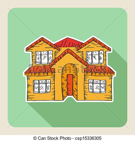 Drawn hosue family drawing Drawn Sketch Clipart Hand real