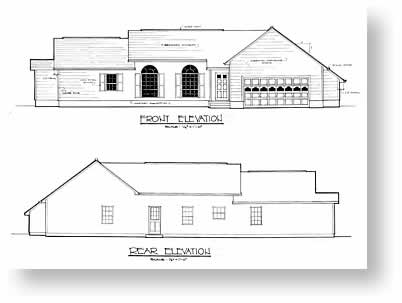 Drawn building elevation drawing Plan House house Design elevations