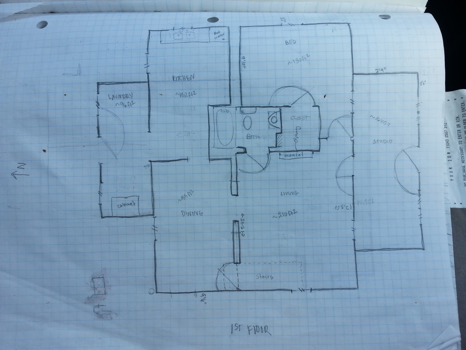 Drawn hosue graph paper Graph House Paper Our House