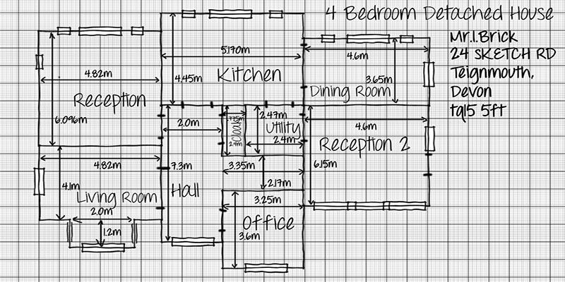 Drawn hosue graph paper Images Drawing Grid Plans Best