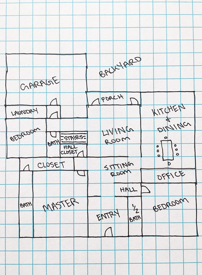 Drawn hosue graph paper Floor Plans Floorplans on Best