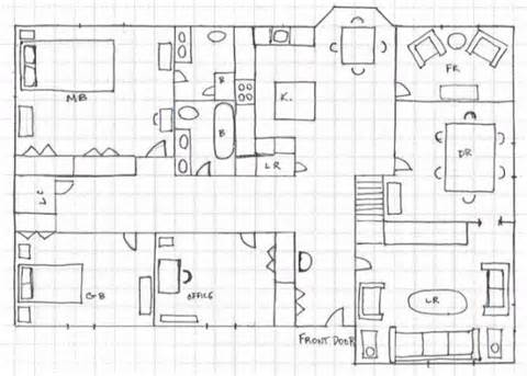 Drawn hosue graph paper Graph Draw Paper Plan Draw