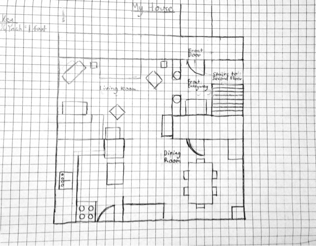 Drawn hosue graph paper Style Plan Drawing House Plans