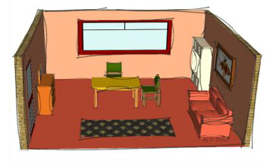 Drawn room single Has and rendered drawn in