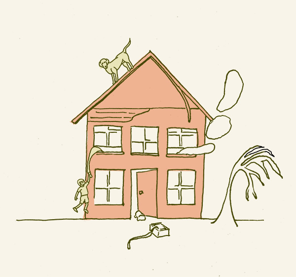 Drawn house little kid Drawing House' Of with network