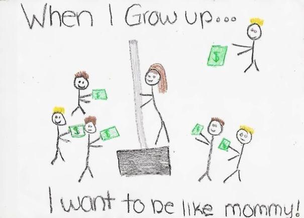 Drawn house little kid Is on ideas Mom Work