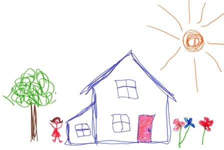 Drawn house little kid House Bambino House drawing Kisses/Vinny