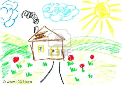 Drawn house little kid Drawing & for Kid Of