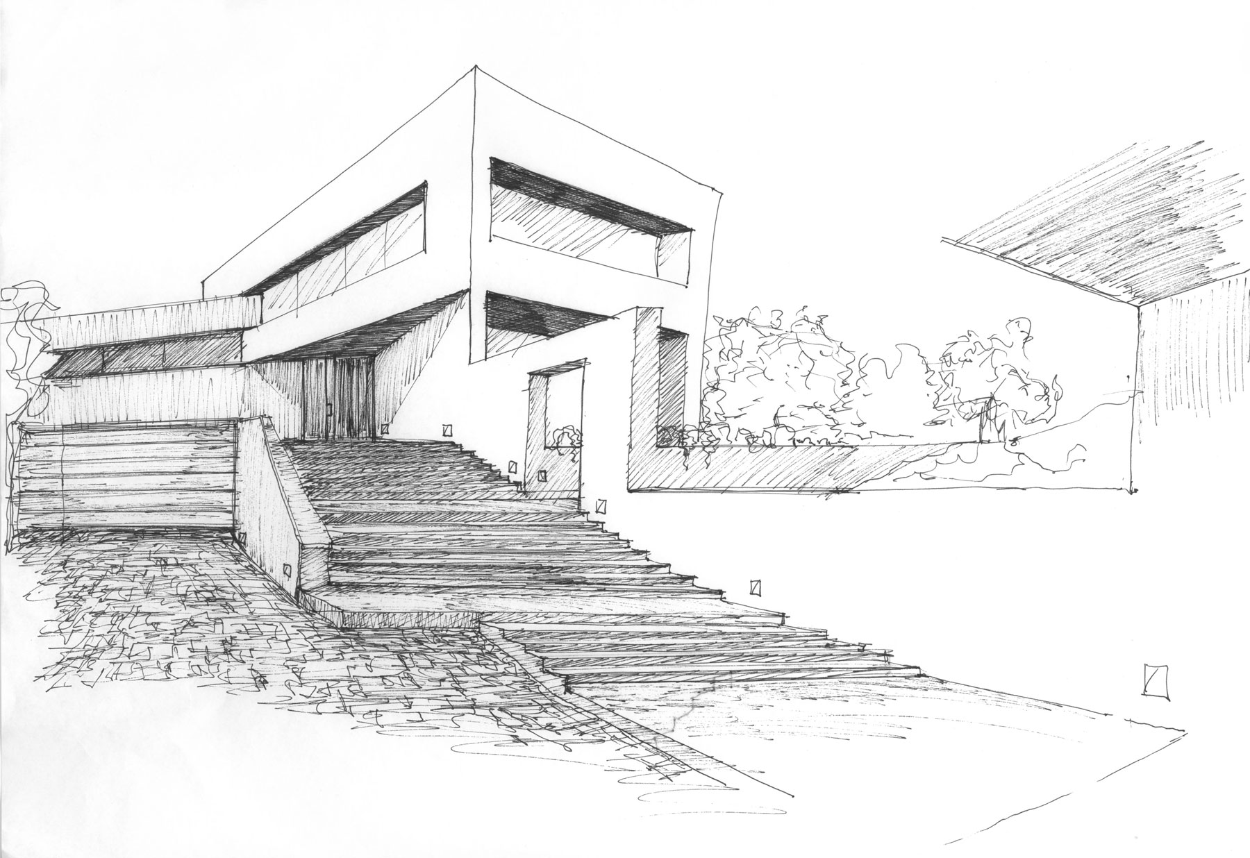 Drawn house modern architectural design On this Pinterest sketching and