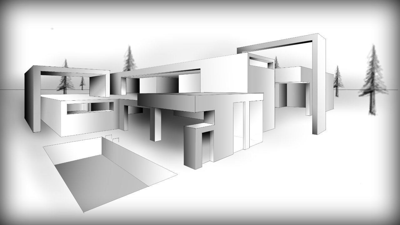Drawn house modern architectural design A ARCHITECTURE HOUSE #9: DESIGN