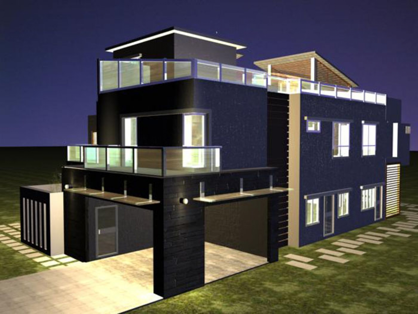 Drawn house modern architectural design Drawing Modern Modern Designs House