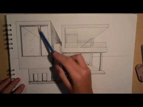Drawn house modern architectural design Point DRAWING & best MODERN