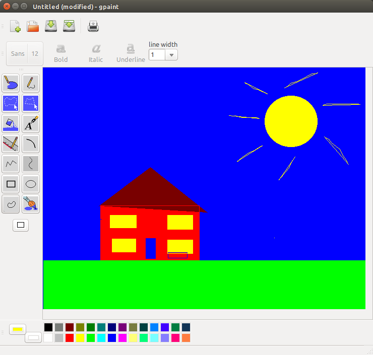 Drawn house ms paint Microsoft The and Linux but