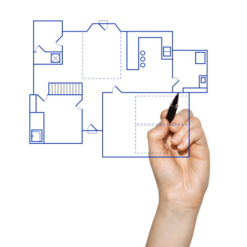 Drawn house own To CAD to Quick house