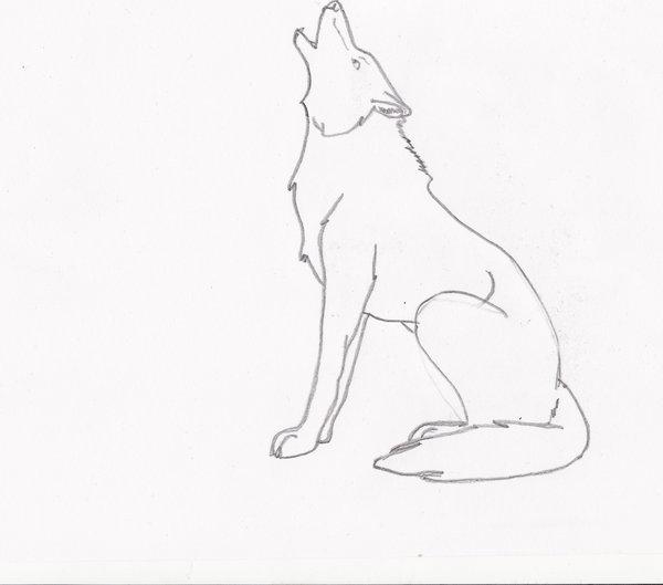 Drawn howling wolf Wolf Howling Dead Unspoken wolf