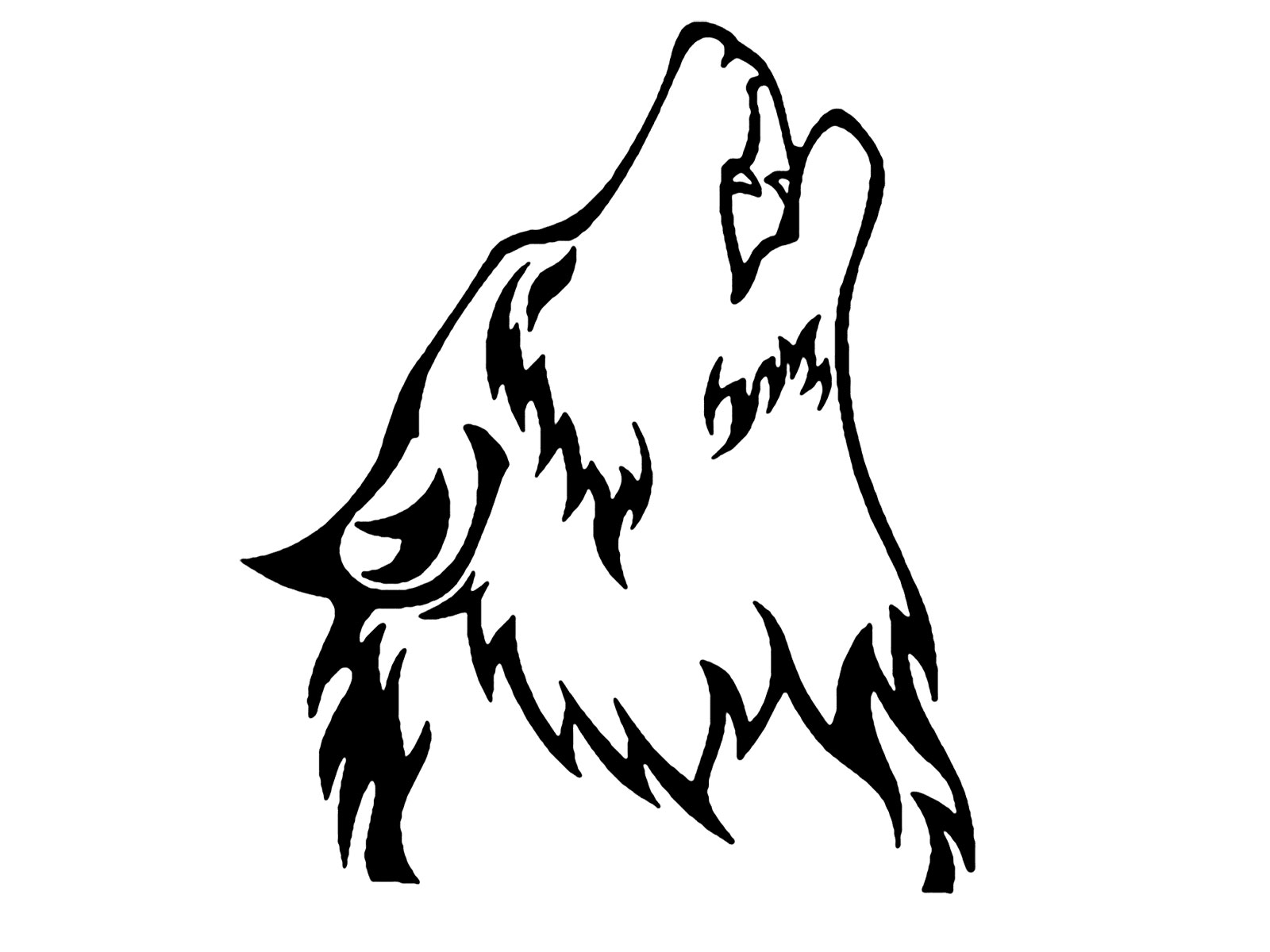 Howling Wolf clipart Download Drawings Free Wolves Download