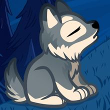 Drawn howling wolf adorable I howling to of made