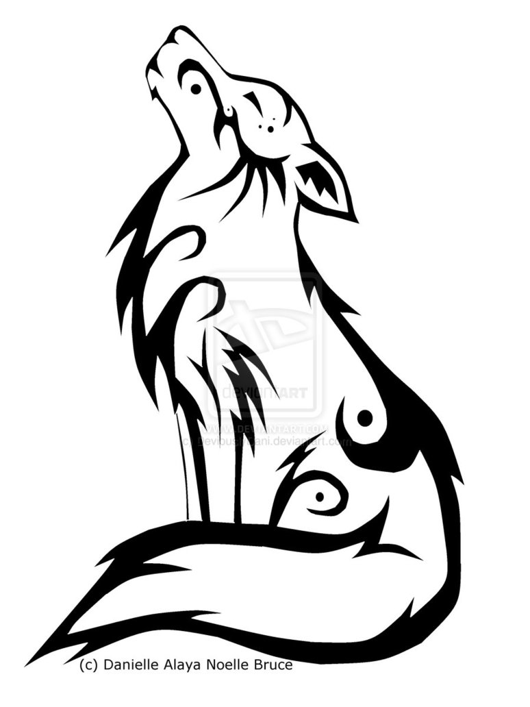 Drawn howling wolf adorable Accents some Drawings deviantART by