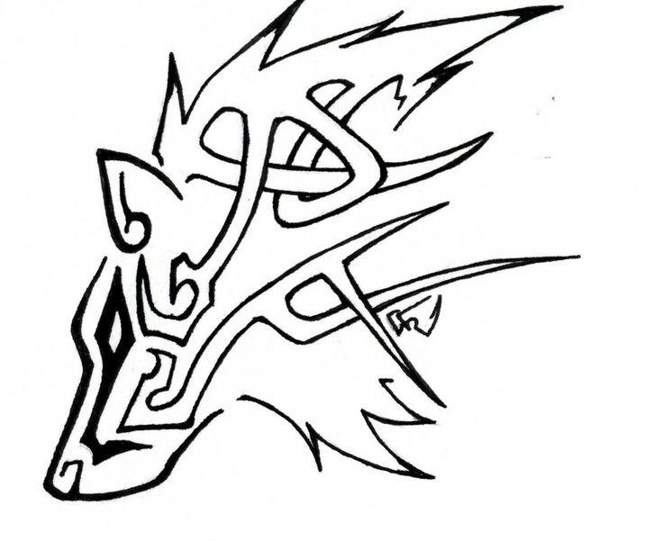 Drawn howling wolf celtic wolf Tattoo wolf Celtic Wolf ideas