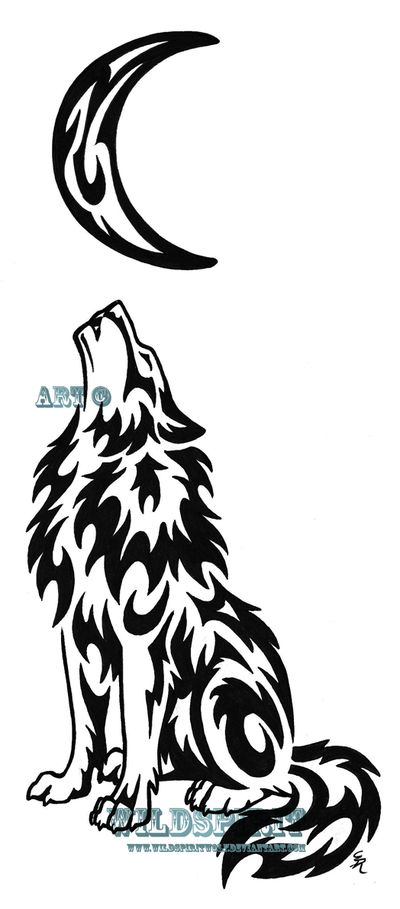 Drawn howling wolf celtic wolf Pinterest be Tattoo Lonely
