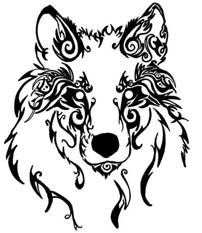 Drawn howling wolf celtic wolf Night to last Just originally