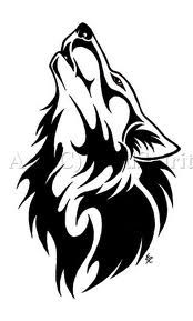 Drawn howling wolf celtic wolf Pinterest for tattoo… Howling Wolf