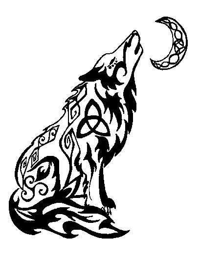 Drawn howling wolf celtic wolf Ideas Search tattoos wolf on