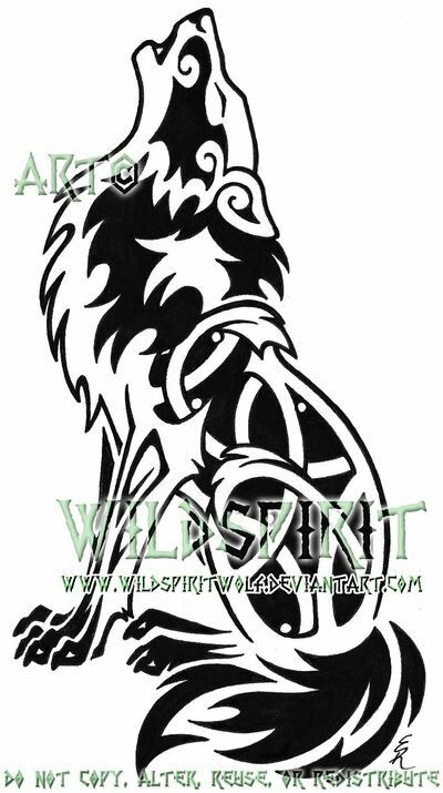Drawn howling wolf celtic wolf Viking Celtic Celtic Wolf tattoos