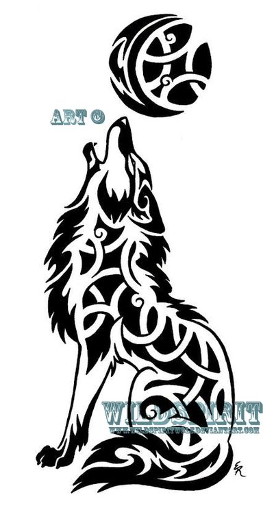 Drawn howling wolf celtic wolf Wolf by Celtic Tribal 35